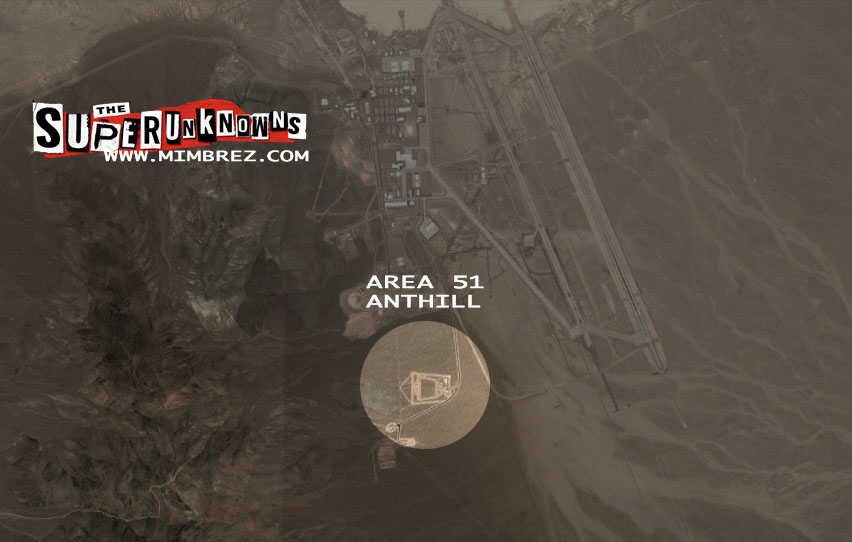 anthill entrance to underground military base at area 51