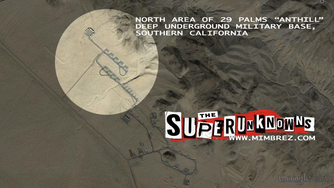 north area of anthill 29 palms deep underground military base